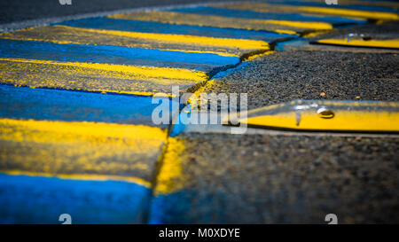 Rumble kerbs on track walk of the 2017 24 Hours Le Mans at Circuit de la Sarthe on Friday 16 June 2017. Photo: Ian - Stock Photo
