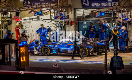 Nelson Panciatici (FRA) / Pierre Ragues (FRA) / Andre Negrao (BRA) driving the #35 LMP2  Signatech Alpine A470-Gibson - Stock Photo
