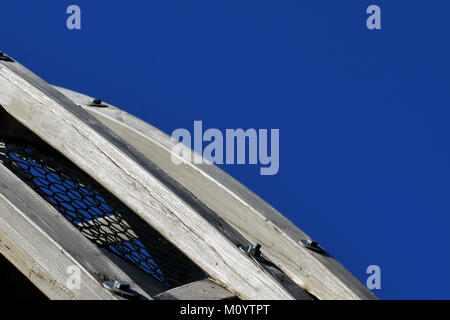 Detail of wooden architecture. Space for text. - Stock Photo