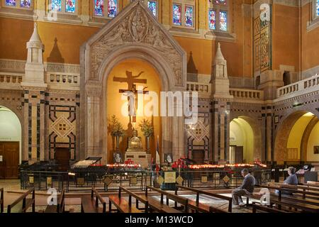 France, Calvados, Lisieux, St. Therese Basilica - Stock Photo