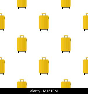 Suitcase on wheels pattern seamless - Stock Photo