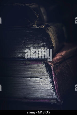Pile of ancient books - Stock Photo