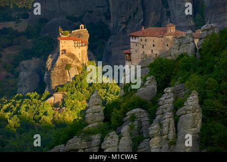 Nicholas Anapausas Monastery at Meteora, Greece - Stock Photo