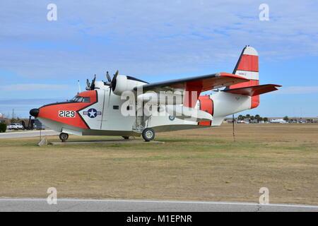 American Coast guard sea plane - Stock Photo