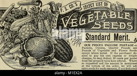 1900 catalogue of Plant Seed Company - reliable vegetable, farm, and flower seeds (1900) (20371668768) - Stock Photo