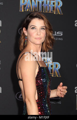 Cobie Smulders  01/29/2018 The World Premiere of 'Black Panther' held at The Dolby Theatre in Los Angeles, CA  Photo: - Stock Photo