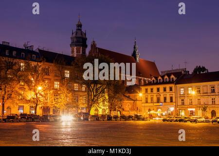 Corpus Christi Basilica on Wolnica Square in Krakow. Krakow, Malopolskie, Poland. - Stock Photo