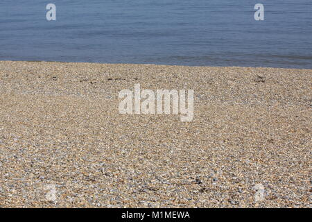Pebble Beach, Suffolk, England - Stock Photo