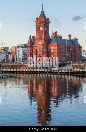 The Pierhead Building at Cardiff Bay, south Wales - Stock Photo