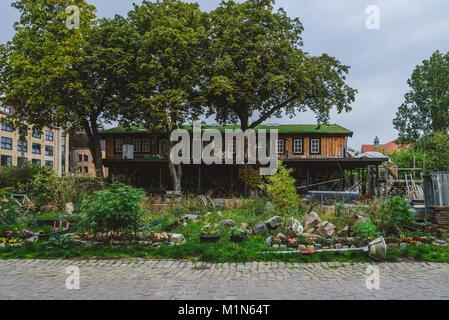 Christiania District in Copenhagen - Stock Photo