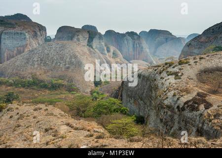Black Rocks at Pungo Andongo, Malanje province, Angola, Africa - Stock Photo