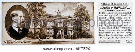 Homes of Famous Men - Charles Dickens 1812 – 1870 - Stock Photo