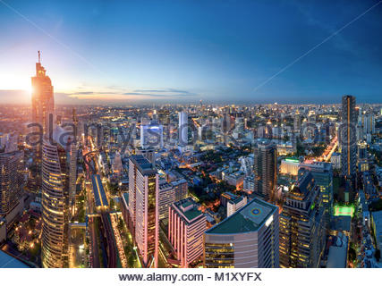 Cityscape in middle of Bangkok,Thailand - Stock Photo