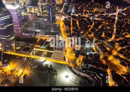 Istanbul view from air shows us amazing twilight scene - Stock Photo
