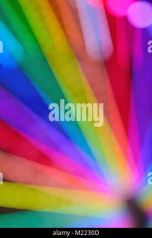 Abstract texture of colorful Ferris wheel blurred lights - Stock Photo