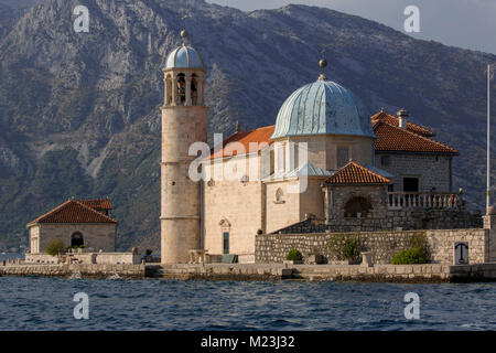 Our Lady of the Rocks island church, Perast, Montenegro - Stock Photo
