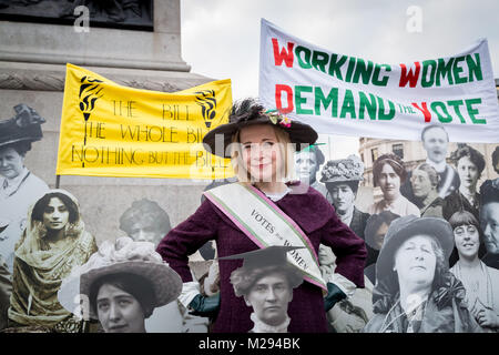 London, UK. 6th Feb, 2018. The Mayor of London including historian Lucy Worsley (pictured) hosts a symbolic exhibition - Stock Photo