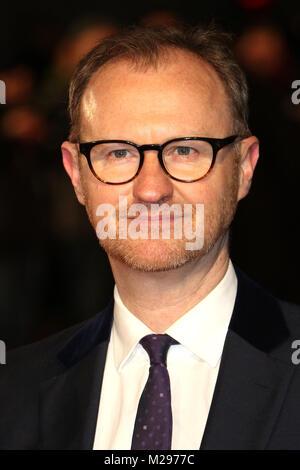 London, UK. 6th Feb, 2018. Mark Gatiss, The Mercy - World Premiere, Curzon Mayfair, London UK, 06 February 2018, - Stock Photo