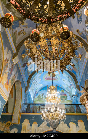 The Church of St. Gabriel, Nazareth, Israel. In The interior of the Greek Orthodox Church of the Annunciation, - Stock Photo