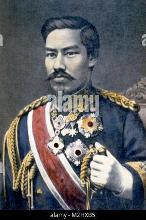 Meiji the Great, Emperor of Japan - Stock Photo