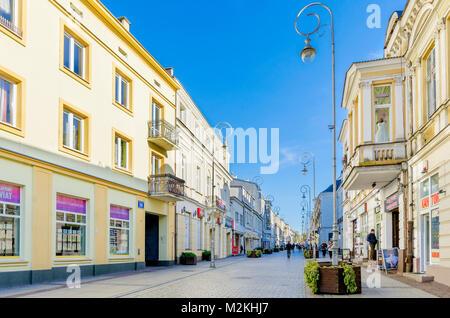 Sienkiewicza street, Kielce, Lesser Poland Voivodeship, Poland. Europe. - Stock Photo