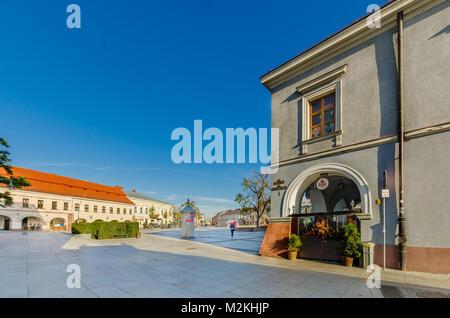 Marketplace, Kielce, Lesser Poland Voivodeship, Poland. Europe. - Stock Photo