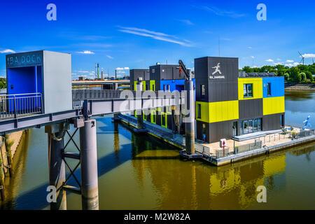 Germany, Hamburg, Veddel, IBA Dock - Stock Photo