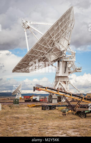 Very Large Array (VLA) Radio Telescopes located at the National Radio Astronomy Observatory Site in Socorro, New - Stock Photo