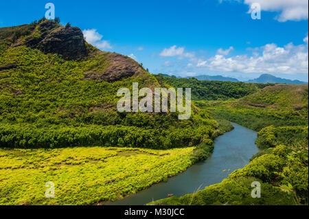 The wailua river, Kauai, Hawaii - Stock Photo