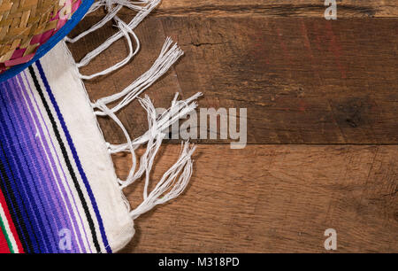 Cinco de Mayo background on wooden boards - Stock Photo