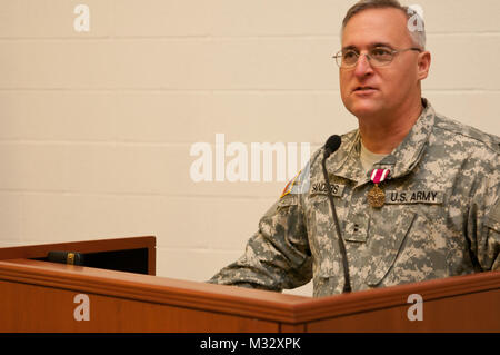 Soldiers of the 145th Army Band, Oklahoma National Guard take part in a change of command ceremony in Oklahoma City, - Stock Photo