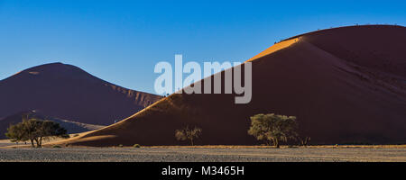 Dune 45 at Sossusvlei, Namib Naukluft National Park, Namibia - Stock Photo