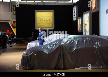 Volkswagen North America CEO Hinrich Woebcken at the North America unveil of the 2019 Volkswagen Arteon at the 2018 - Stock Photo