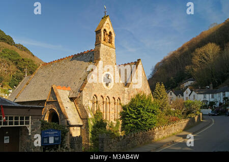 UK,North Devon,Lynmouth,Church of St John The Baptist - Stock Photo