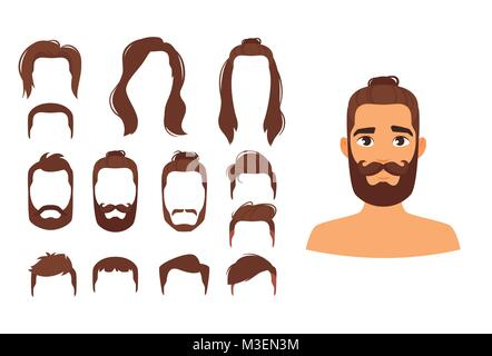 different man hairstyles - Stock Photo