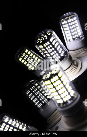 LED elements in the lamp. Lamps with diodes. Many bright lights  - Stock Photo