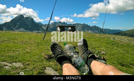 Rast in den Dolomiten - Stock Photo