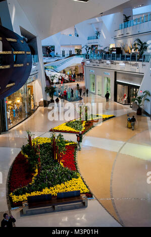 Las Vegas, Nevada.  Crystals at City Center Shopping Mall and Crystals Retail District, is CityCenter's 500,000 - Stock Photo