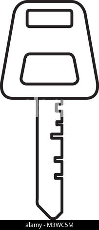 car key isolated icon - Stock Photo