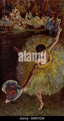 Edgar Degas, Fin d'Arabesque, with ballerina Rosita Mauri, 1877 - Stock Photo