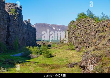 Pingvellir National park in Iceland - Stock Photo
