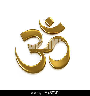 Om Good Energy Symbol. 3D Render Illustration - Stock Photo