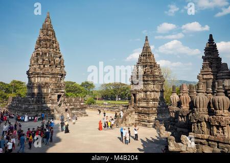 Prambanan Hindu Temple Compound. Special Region of Yogyakarta, Java, Indonesia. - Stock Photo