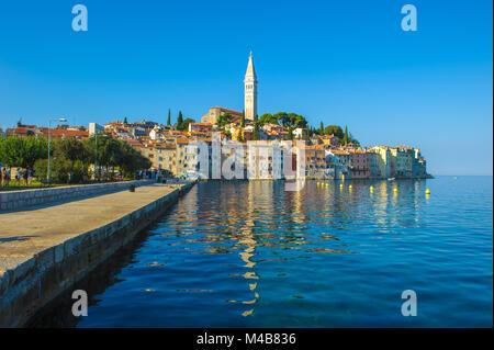 Old town of Rovinj, Istrian Peninsula, Croatia - Stock Photo