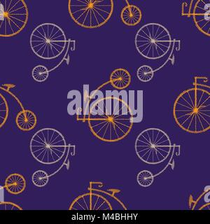 Penny-farthing icon white isolated on green background. antique old bicycle with big wheels. Vector illustration. - Stock Photo