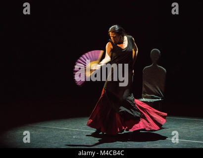 London, UK - 15th February 2018 - Maria Pagés Compania present Yo Carmen at Sadler's Wells Theatre as part of the - Stock Photo