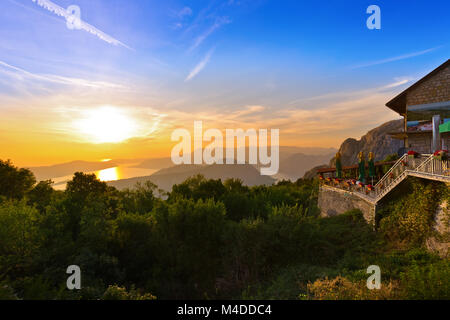 Kotor Bay on sunset - Montenegro - Stock Photo