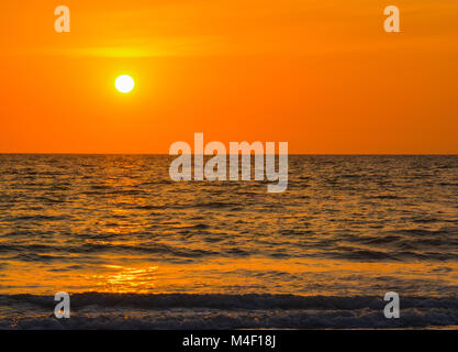 Sunset over the Gulf of Mexico - Stock Photo
