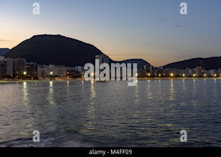 Copacabana at night - Stock Photo