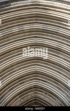 arc of Girona cathedral, Catalonia (Spain) - Stock Photo